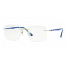 Ray Ban Eyeglasses RX8757 1193 53 Silver Blue Optical Frame  RB8757