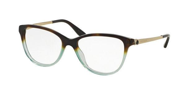 New BVLGARI BV4108B 5364 55MM Havana Gradient Green Women Eyeglasses Frame