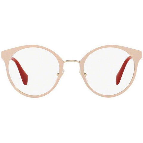 Miu Miu Eyeglass Frames MU51PV UST1O1 50MM UST Gold /Powder For Women