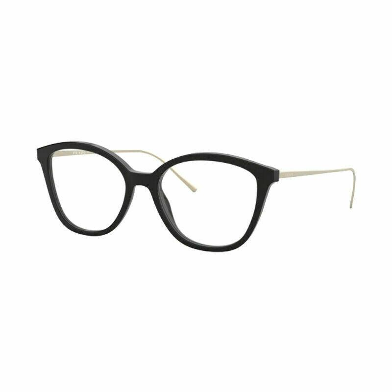 New Prada Conceptual Eyeglasses Frames PR11VV 1AB1O1 Black Demo Lens 51mm