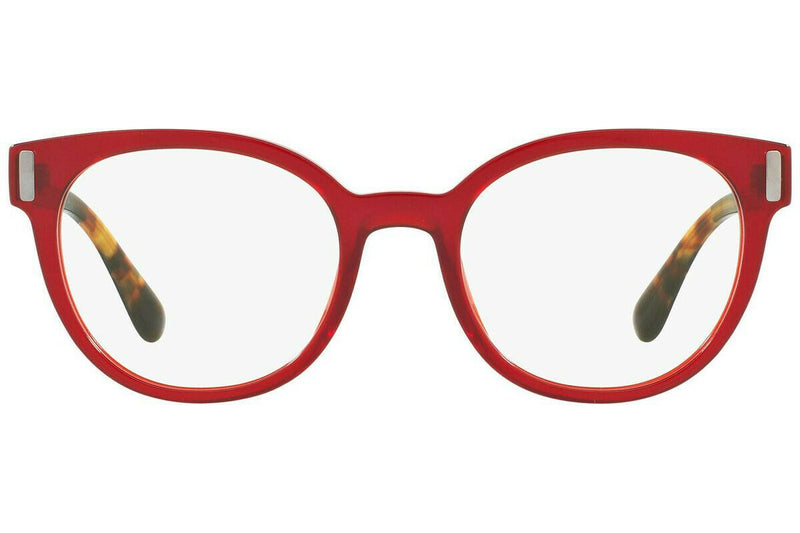 Prada Eyeglass - PR06TV ACB1O1 52 Cat Eye Style Transparent Red Eyeglass