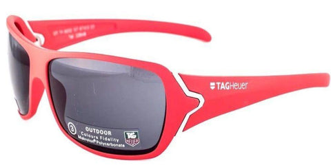 Tag Heuer Men Wrap Sunglasses Red Frame Grey Lens TH9202-107 67mm