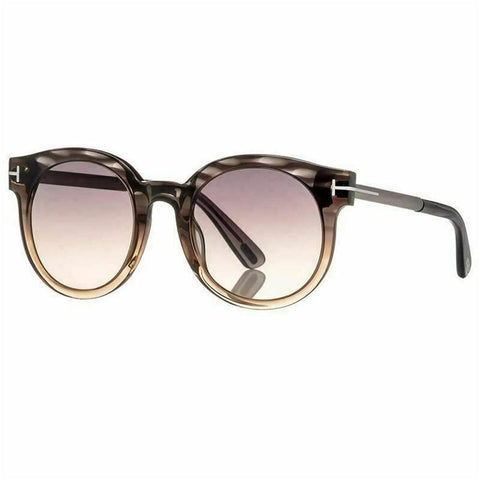 Tom Ford Janina Sunglasses Grey w/Grey Gradient Lens Unisex FT0435 20B 51