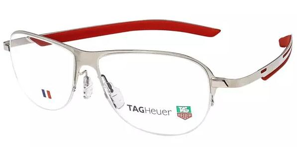 Tag Heuer Eyeglasses Glasses TH3822 3822 005 Light Red Ruthenium Optical Frame
