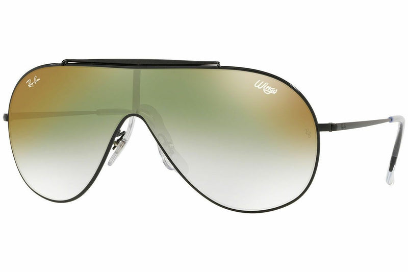 Ray Ban Wings RB3597 002/W0 33 Black Frame / Green Gradient Mirror Lenses