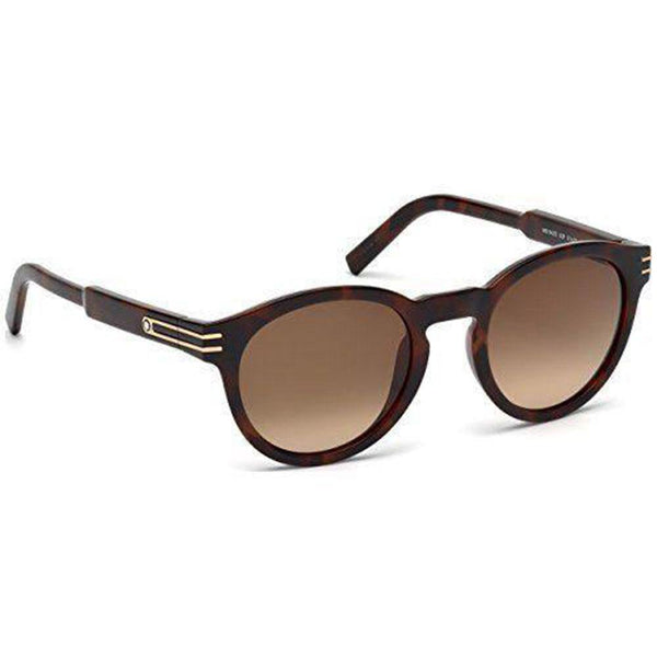 Mont Blanc Sunglasses Oval frame Brown Lens | Side view