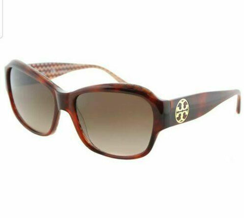 Tory Burch TY 7107 165813 Tortoise on Orange Brown Frame Brown Lens