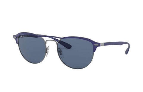 Ray Ban Square Style Sunglasses W/Blue Lens