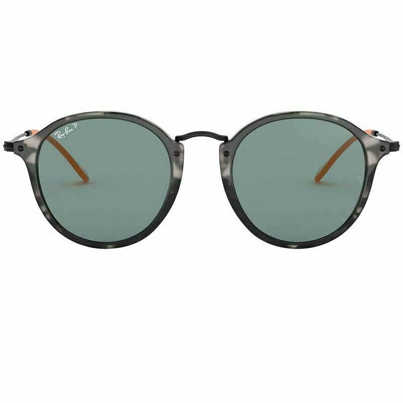 Ray-Ban Sunglass - Round Style Round Fleck Model Grey Havana Color Sunglass RB2447 124652 49