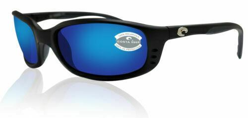 Costa Del Mar BR 11 OBMP Brine Matte Black Blue 580P Polarized Lens Sunglasses
