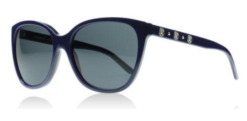 New Versace Women's Gradient  VE4281-510787-57 Blue Round Sunglasses Fast Ship