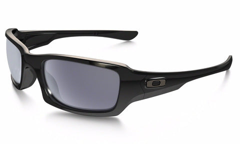 Oakley Men Square Sunglasses Polished Black Frame OO9238-04 55mm