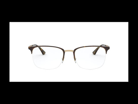 Ray-Ban Frames Eyeglasses Authentic RX6433 3001 53 Havana 3001 in Metal
