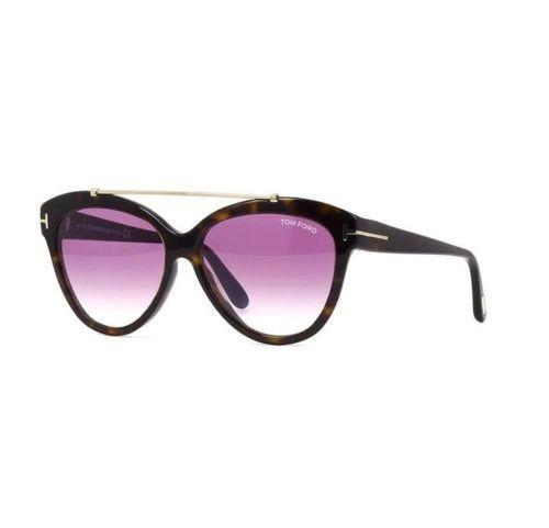 Tom Ford Sunglasses Livia Cat Eye Style Rose Gradient Lens