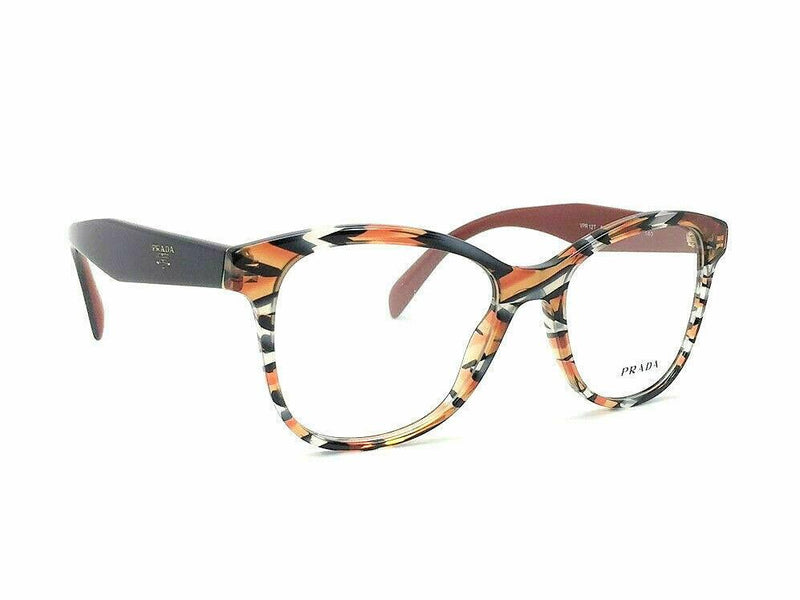 Prada Eyeglass Cat Eye Style PR12TV VAN1O1 51 | Sheaves Grey/Orange Color