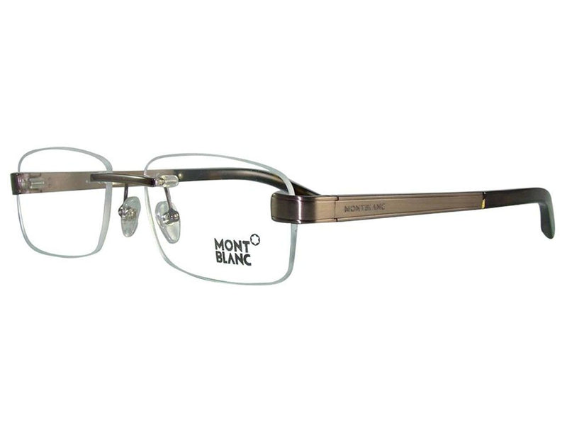 Mont Blanc Eyeglass Rectangular Style Brown Frame Color - MB305 048 56MM