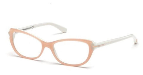 New Tom Ford Woman TF5286 072 54-15-135 Pink / White Optic Frame Fast Ship