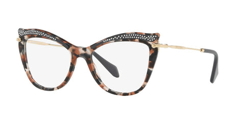 Miu Miu 0MU 06PV 79A1O1 Havana Gray Brown Eyeglasses Optical Frame