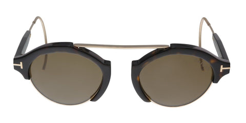 Tom Ford FT0631 52J 49MM Farrah-02 Dark Havana/Gold Round Sunglasses