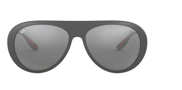 Ray Ban Scuderia Ferrari RB4310M F6266G 59 Mens Pilot Sunglasses Grey Mirror