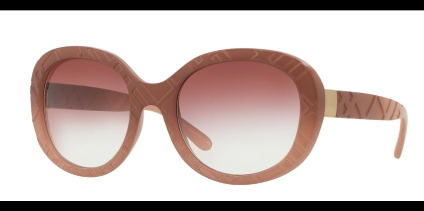 Burberry Women Round Sunglasses BE4218 3582/8H Brown Frames Brown Lens