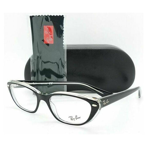 Ray-Ban Transparent Black Cat Eyeglass - RB5242-2034
