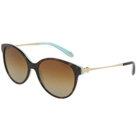 Tiffany & Co Sunglass - Cat Eye Style Metal & Plastic Frame Brown Gradient Lens - TF4127 8134T3