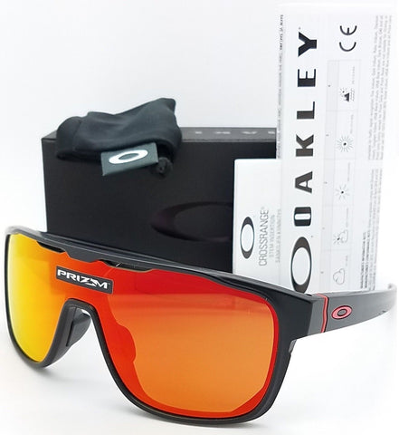 Oakley Crossrange Shield sunglasses Black Prizm Ruby OO9390-0831 red Asian Fit