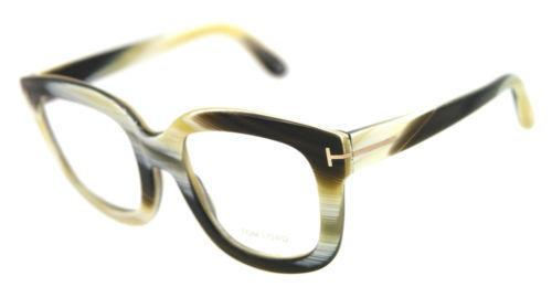 Brand New Authentic Tom Ford Square Eyeglasses TF5315 062 Horn Color 53mm