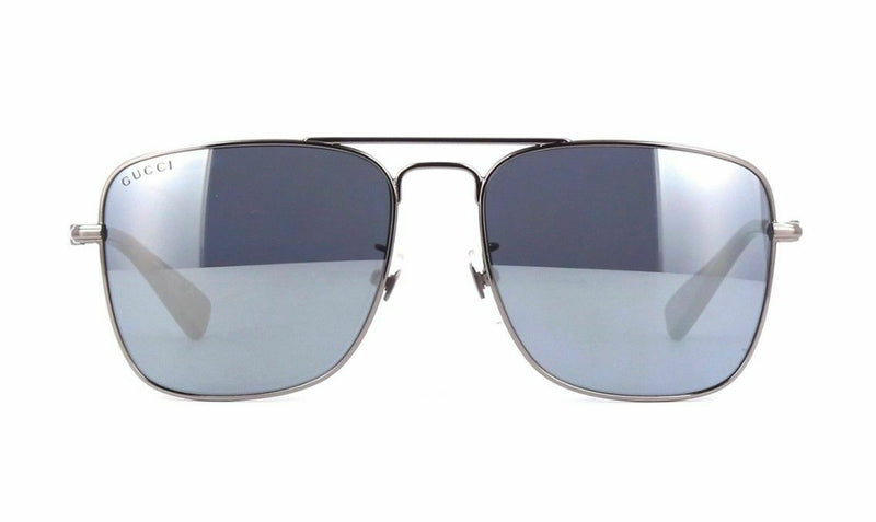 Gucci Sunglass Square style GG0108S 005 55MM - Silver mirrored lens