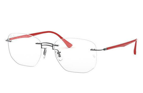 Ray-Ban Grey Red Eyeglasses Optical Frame RX8757 53-18