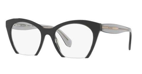 Miu Miu VMU03Q H5X-1O1 51MM Top Black Transparent RX Eyeglasses 51MM MU 03QV