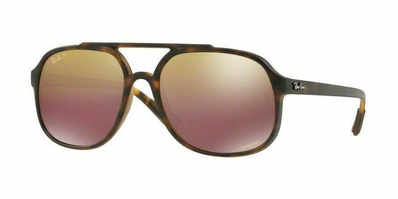 Ray-Ban Sunglass - Square Style Chromance Model Tortoise Color Sunglass RB4312CH 894/6B 57