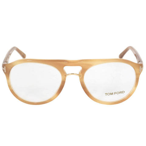 Tom Ford  Eyeglass - Round Shape Light Havana - FT5007-663-49