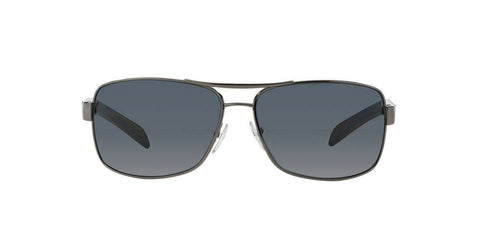New Prada Linea Rossa PS54IS 5AV5Z1 65MM Gunmetal Sunglasses Grey Polarized Lens