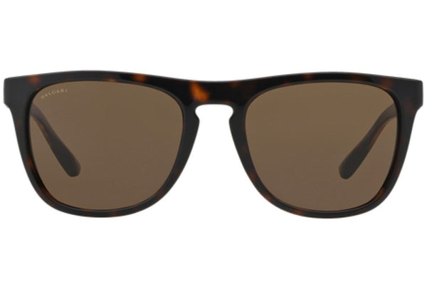 Bvlgari Sunglasses Men Square Frame Brown Lens