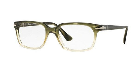 Persol Men Rectangular Eyeglasses Green Frame Demo PO3131V 1038 54mm
