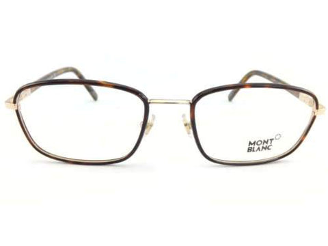 MONT BLANC men's Shiny Gold with Black Arms 56mm RX Glasses Frame MB0556 055 56