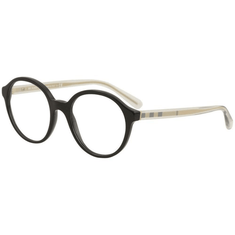 Burberry Eyeglasses Women Round Frame Demo Lens 53mm