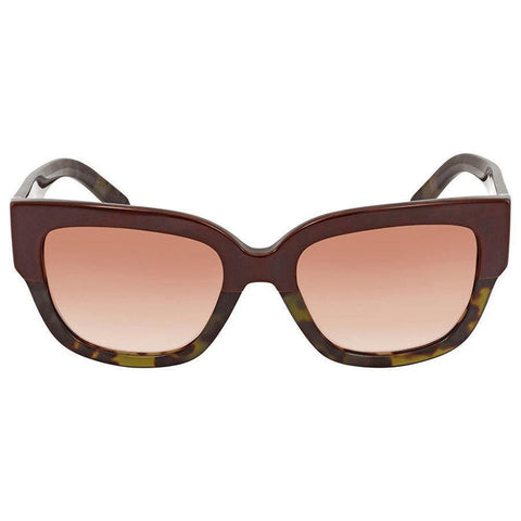 Burberry Sunglasses Square Frame with Brown Lens - Front View