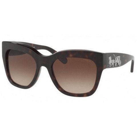 Coach Sunglasses Square Style Brown Gradient Lens