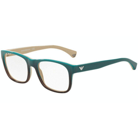 Emporio Armani Eyeglasses Unisex Having Square Frame Demo Lens