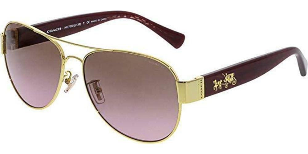 6bf23133c8 Coach Sunglasses Aviator Style Rose Brown Gradient Lens – EYEWEAR ...