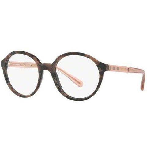 Burberry Eyeglasses Women Round Frame Demo Lens