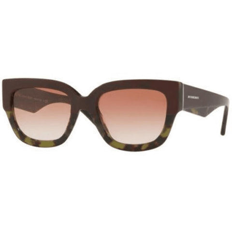 Burberry Sunglasses Unisex Square Frame with Brown Lens