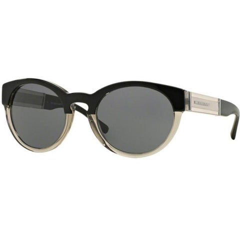 Burberry Sunglasses Women Round Frame Grey Lens