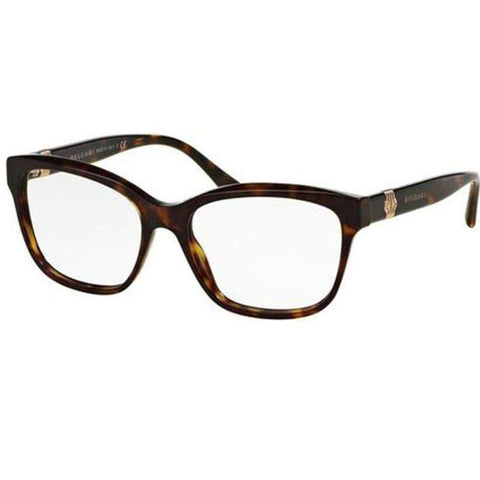 Bvlgari Eyeglasses Women Square Frame Demo Lens