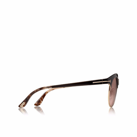 Tom Ford Sunglass Angela Round style Brown lens- TF438 01F