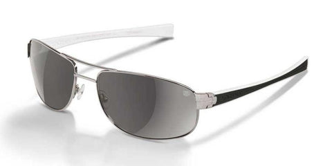 Tag Heuer Men Aviator Sunglasses Silver Frame Grey TH0252 206 63mm