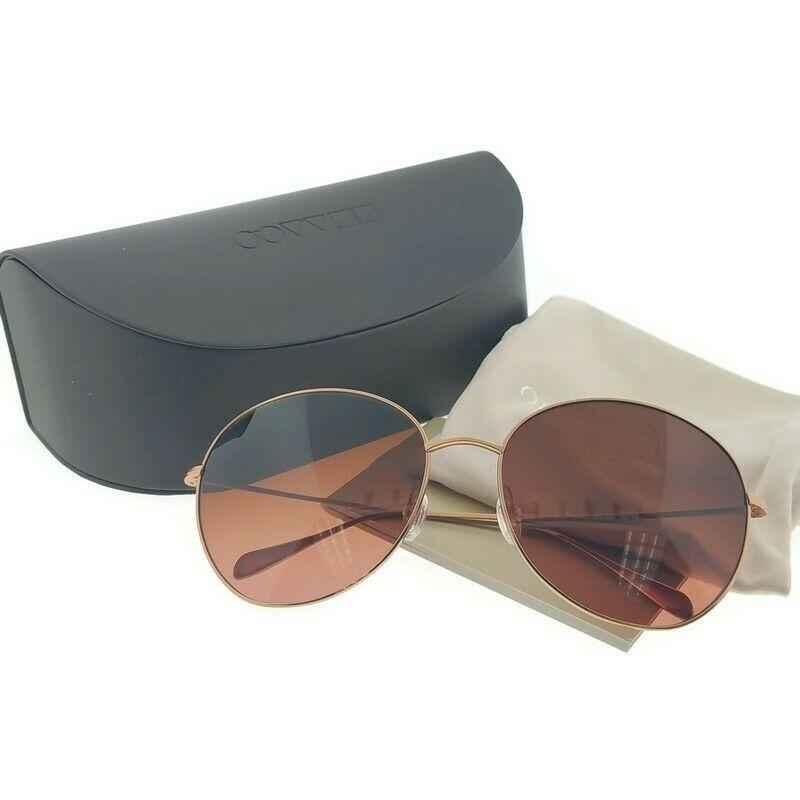 Oliver Peoples Sunglass Blonde ll Round Style Brown Pink Lens - Unisex Sunglass Bronze Gold Frame OV1102ST 51139P 60